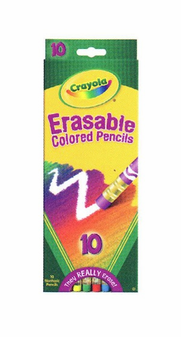 Crayola 10 ct Erasable Colored Pencils
