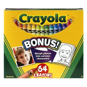 Crayola Crayon 64 box with Sharpener