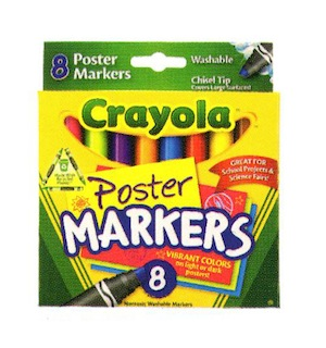 Crayola Poster Markers 8 ct