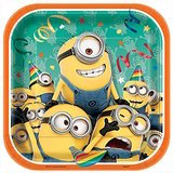 Despicable Me Square Plates 7 inch