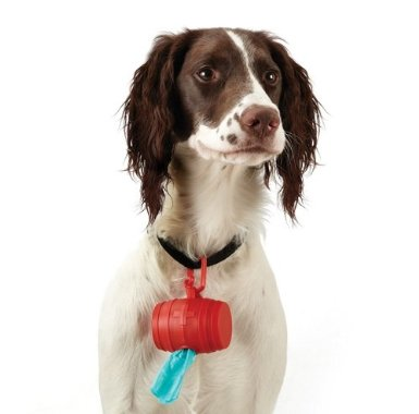 Doggie Barrel Bag Holder Red