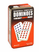 Dominoes Double 12 w/Tin