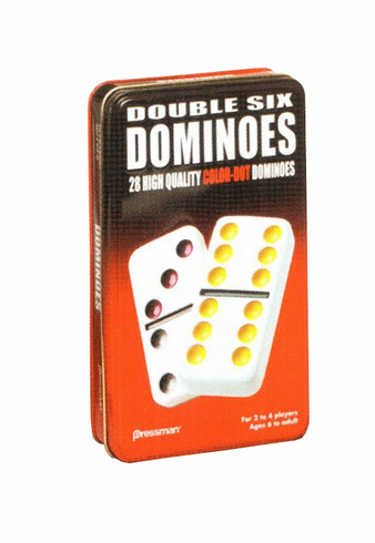 Dominoes Double Six w/Tin