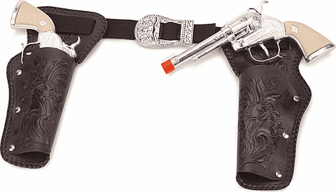Double Holster Toy Cap Gun Set