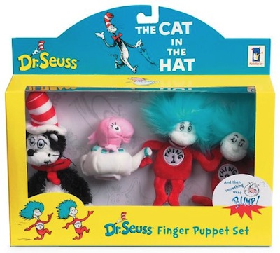 Dr. Seuss Cat In Hat Finger Puppet Set