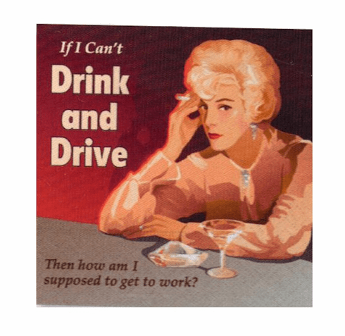 Drink and Drive Beverage Napkins