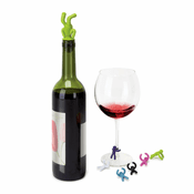 Drinking Buddy Wine Bottle Stopper and Charms Set