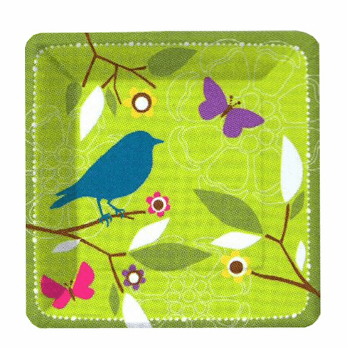 Early Bird Square Dinner Plate