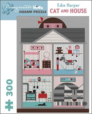 Edie Harper Cat and House Jigsaw Puzzle