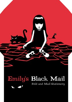 Emily's Black Mail Fold and Mail Stationery
