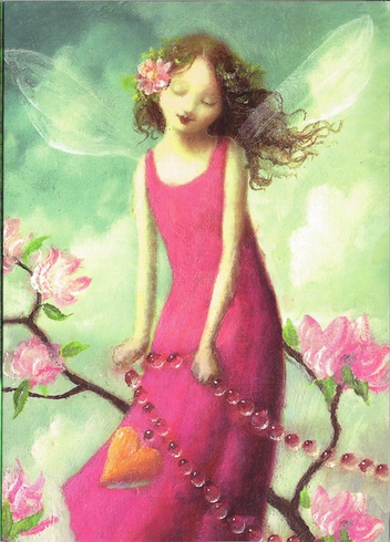 FAIRY PINK DRESS CARD