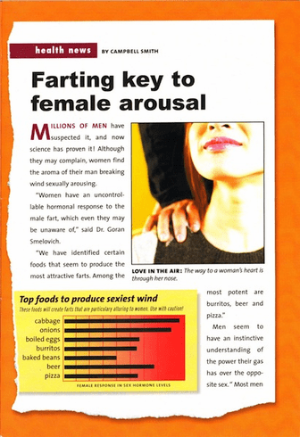 Farting Key to Female Arousal