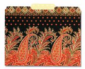 FILE FOLDER: Red Paisley