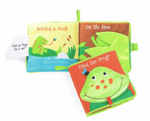 Find the Frog Fabric Plush Baby Book
