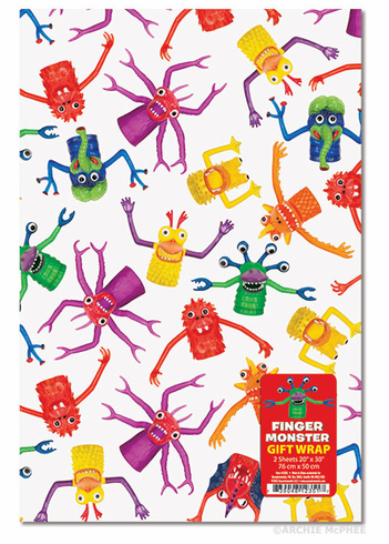 Finger Monster Gift Wrap