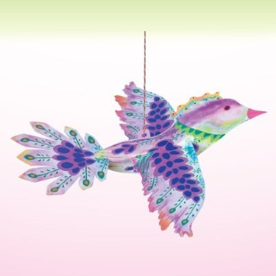 Floating Paper Bird Purple