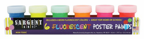Fluorescent Poster Paint Set