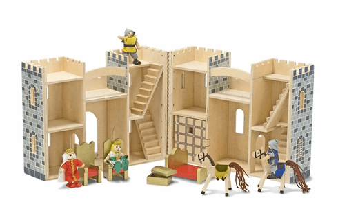 Fold and Go Wooden Castle