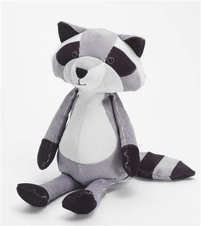 Folksy Forrester Raccoon Plush