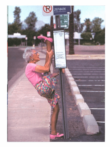 Foofie - Old Woman at Bus Stop