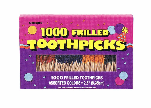 Frilled Toothpicks 1000 ct.