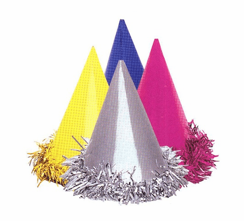 Fringed Foil Party Hats