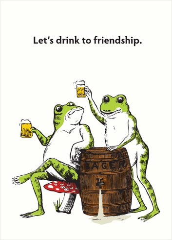 Frog Lager Drink to Friendship