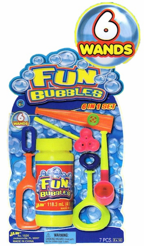 Fun Bubbles 6 in 1 Set