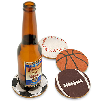 Game on! Cork Coaster Set