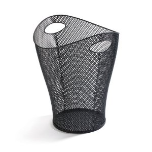 Garbino Trash Can - Black Mesh
