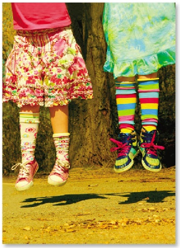 Girls With Colorful Socks