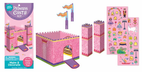 Glitter Princess Castle Sticker Kit
