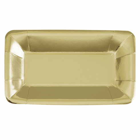 Gold Foil Rectangular Plate 9x5""