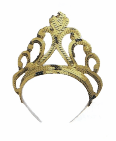 Gold Sequin Tiara