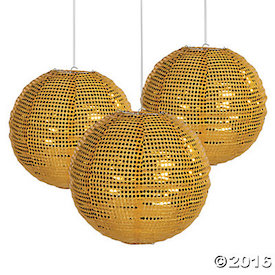 Gold Sequined Lantern