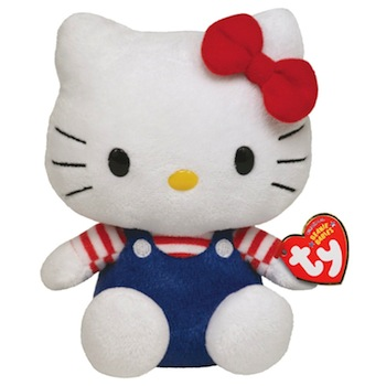 Hello Kitty Beanie Baby Blue 8""