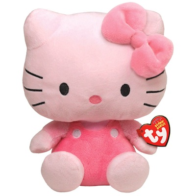 Hello Kitty Pink Coveralls Beanie Baby 8""