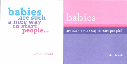 Herold - Babies Are Such A Nice Way