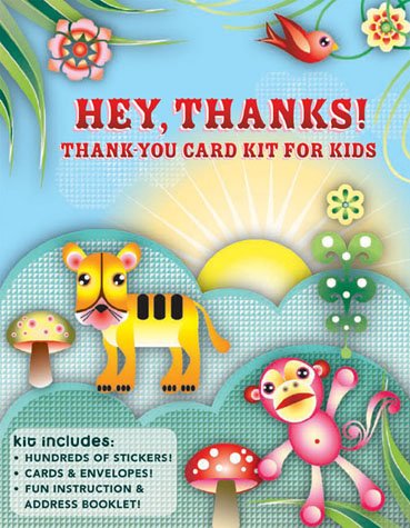 Hey, Thanks! Thank-You Card Kit for Kids