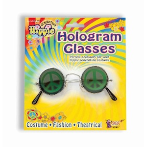 Hologram Peace Sign Glasses