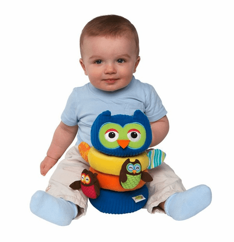Hoot 'n Rattle Owl Stacker
