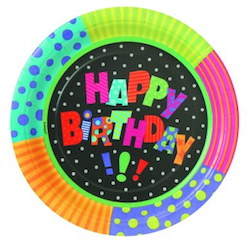 Infinite Birthday Plates 9""