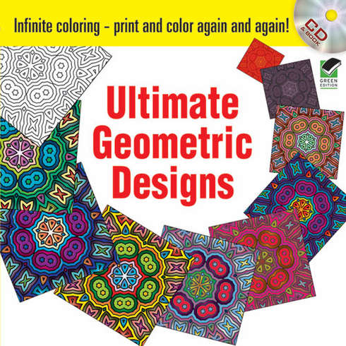 Infinite Coloring Ultimate Geometric Designs CD and Book