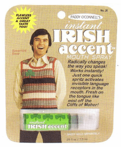 Instant Irish Accent Spray