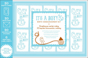 It's a Boy! Birth Announcement Kit