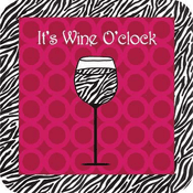 It's Wine O Clock Drink Coaster