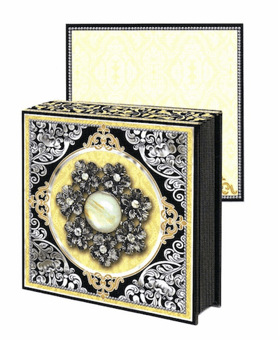 JEWEL NOTEPAD: BLACK FLOWER