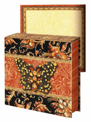 JEWEL NOTEPAD: Brown BUTTERFLY