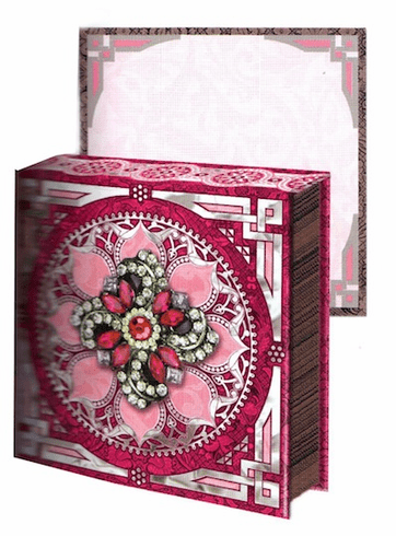 JEWEL NOTEPAD: PInk FLOWER