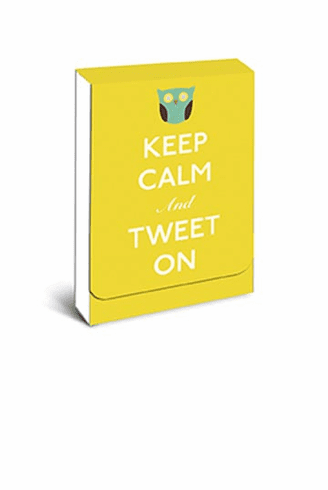 Keep Calm and Tweet On Owl Purse Notes